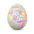 Osterei, Frohe Ostern, Text, TagCloud, Wörter, SEO, SEM, Ei, Web