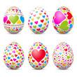 Ostereier, Osterfest, Eier, Set, bunte Eier, Herz, Liebe, Amore