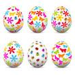 Ostereier, Ostern, Eier, Set, Schmetterlinge, bunte Eier, bemalt