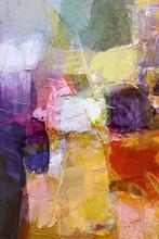 texturen, kleuren lagen op canvas structuur