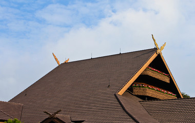 roof of Doi tung palace, chiang rai thailand