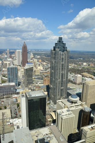 Aerial View of Atlanta, Georgia, USA