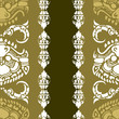 Vector seamless Cambodian floral pattern