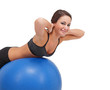 Cute women stretching on a fitness ball