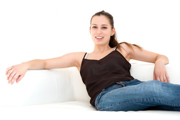 woman on the couch