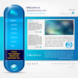 Website vector template - modern design
