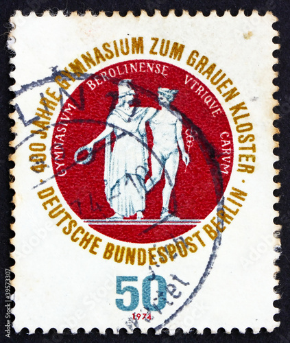 Postage stamp Germany 1974 School Seal Showing Athena and Hermes
