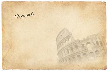 Old travel postcard