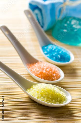 colorful bath salt