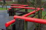 red handrail poster