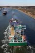 Schiffe auf dem Nord Ostsee Kanal