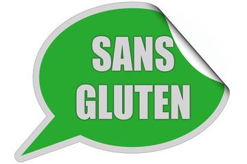 SP-Sticker grün curl oben SANS GLUTEN
