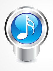 abstract glossy musica icon