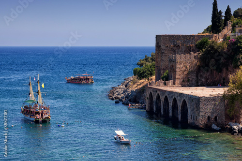 Ancient Tersane shipyard in Alanya (Turkey)