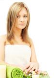 Woman in beauty salon - dayspa poster