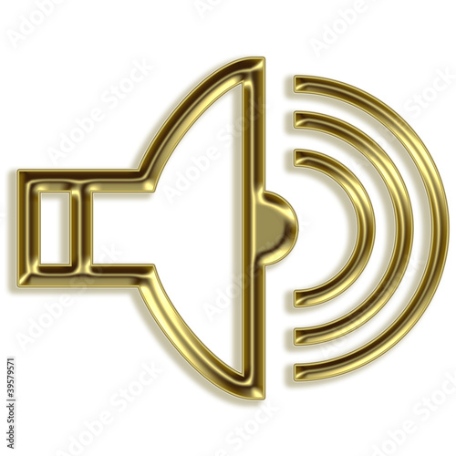 Volume sign - golden speaker