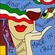 astratto con vino