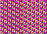 Fototapety Seamless geometrical abstract 3D pattern