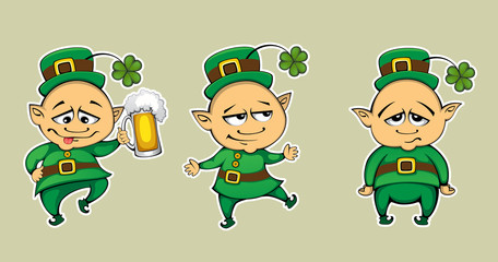 Saint Patrick Three poses