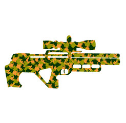 camouflage weapons