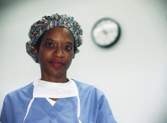 Mature female surgeon posing