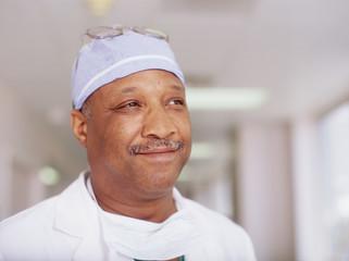 Portrait of male surgeon smiling