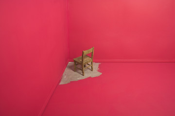Chair painted into a corner