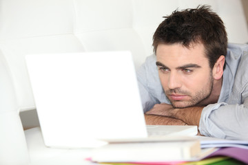 Man doing computer work