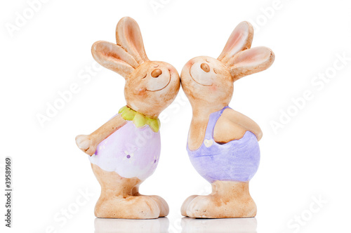 couple rabbit kissing