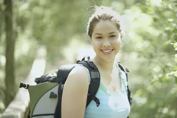 Portrait of a young female hiker