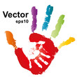 Vector conceptual hands painted