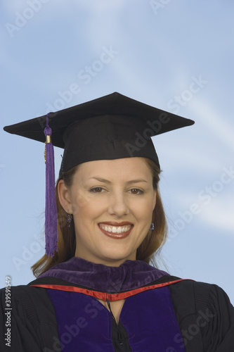 Portrait of female graduate