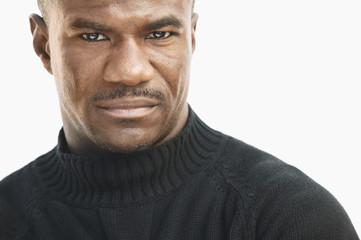 Close up of a serious man