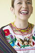 Hispanic woman laughing