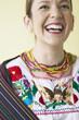 Hispanic woman laughing