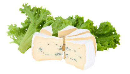 blue cheese with lettuce