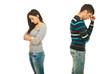 Sad couple having conflict