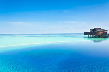 Luxury resort in the Maldives