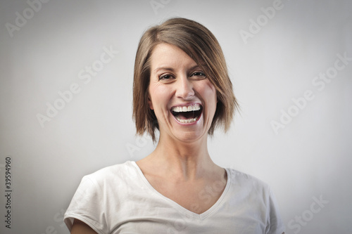 Laughing woman
