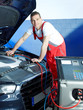 Motor mechanic is checking the air handling unit of a car