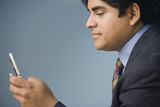 Businessman using his cell phone