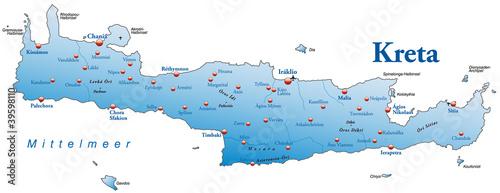 Karte von Kreta