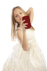 girl with mobile telephone