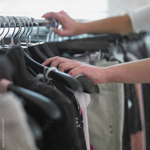 Close up of woman shopping