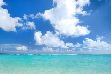 Turquoise waters of the caribbean