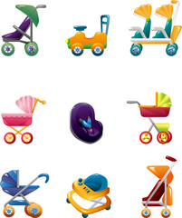 set of baby carriage