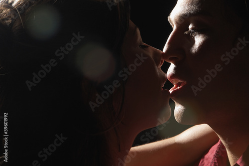Young couple kissing