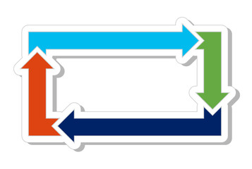Four Arrow Rectangle Process Flow