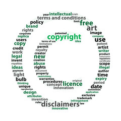 """COPYRIGHT"" Tag Cloud (intellectual property patent art author)"