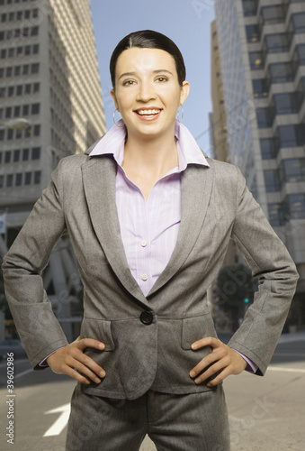 Businesswoman posing for the camera
